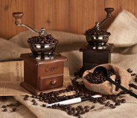 automatic coffee grinder - IN STOCK Cold Brew Coffee Maker Mini Hand Roll Classic Coffee Maker Wood Coffee Machine for Family