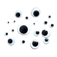 Wholesale Universal mm big size Total Mixed Googly Eyes Self adhesive DIY Scrapbooking for Teddy Bear Stuffed Toy Doll Parts
