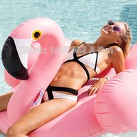 Wholesale wimming Diving Air Mattresses Mattress Water Gigantic Pink Flamingo Pool Inflatable Floats Pool Toys Swimming Float Adult Floats Inflatab
