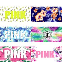 Wholesale VS Beach Towel Loop Towel Pink Letter Facecloth Fitness Sports Bath Towels Yoga Mats Spa Washrag Washcloth Tide Card ht2