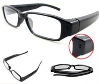 audio video glasses - 720 fps Camera Eyewear Ultra thin flat glasses on the left lens Hidden Spy Glasses camera Dvr Video Audio Recorder Mini DV