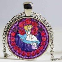 alice choker - Alice in Wonderland Adventures pendant jewelry poker united cartoon fairy tale choker necklace bronze women gift