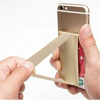 Hot Cell Phone Smart Wallet Case Credit ID Card Holder Pocket Back Stick On 3M Adhesive Pour 4.7 To 5.5 Pouces Universal OPP BAG