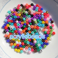 Wholesale Fashion mm Opaque Cezch Glass Seed Beads Jewelry Finding Loose Spacer Beads Solid Color DIY