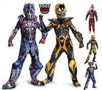 Wholesale Robot Transformers Children s Role Playing Anime Costume Movie Superhero Clothes for Children Optimus Prime Hornet suit