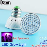 Wholesale LED Full spectrum Grow Light AC V W E27 LED Grow light LED lamp bulb for Flower Plant Hydroponics UV IR Red Blue