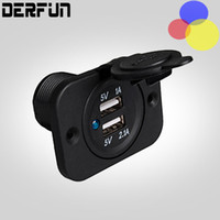 battery sockets - Waterproof Dual USB Motorcycle Charger Adapter V Battery Universal Ports outlet Socket Car RV Boat
