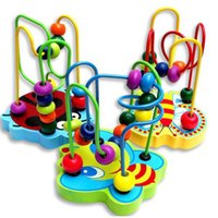 baby coasters - Counting Round Bead Wire Maze Roller Coaster Wooden early Educational Toy for Baby Kids Chilrden