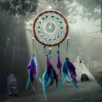 art chimes - Dream Catcher Handmake Wind Chime Antique Imation Enchanted Forest Dreamcatcher with turquoise and leather good gift