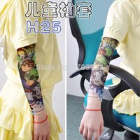 Wholesale 100pcs Cheap Children Carton Tattoo Sleeves Kids Tattoo Arm Sleeves Fake Tattoo Sleeves Body Art