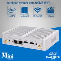 Wholesale Dual NIC HYSTOU Celeron Fanless Mini Computer ITX PC N3050 linux HDMI dual display Windows10 mini PCIE