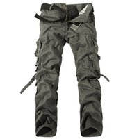 army trousers boys - Men Cargo Pants Spring Man Military Army Camo Combat Work Pants Boys Pocket Trousers Men s Autumn Clothing High Quality A052