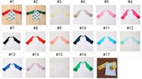 Wholesale baby girl raglan t shirts New Cotton Ruffle Sleeve Children Tee Shirt Cute Europe Style Kids Tops boutique Baby Clothes