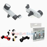 Wholesale Universal Portable Car Air Vent Mount Mobile Phone GPS Holder Frame Degree Rotating for iPhone Samsung HTC smart phone with package