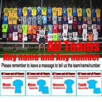 Wholesale Soccer Jerseys All Team Chelsea RONALDO MESSI Football Shirts Mens Woman Youth Soccer Jersey Thailand Soccer Kit Home and Away jersey