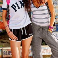 Wholesale VS Secret Love Pink Women High Waist Shorts Summer Sexy Black Sports Jogging Running Gym Workout Beach Booty Shorts Teen Girls