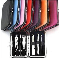 Wholesale 6pcs set Nail Clippers Mini Manicure Set Nails Tools Cuticle Grooming Kit Case Makeup Accessories Mini Manicure Kit