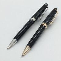 Wholesale Classique MB pen Montel163 black ballpoint pen sliver gold trim excellent Monte pen for gifts