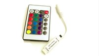 Wholesale DC12V mini Keys IR RGB Remote Controller for SMD3528 RGB LED Strip lights Mini Controller