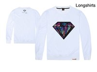 Wholesale The American hip hop diamond street youth men s winter long sleeved loose simple all match shirt