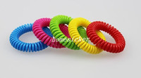 Wholesale New Mosquito Repellent Bracelet Stretchable Elastic Coil Spiral hand Wrist Band telephone Ring Chain Anti mosquito bracelet