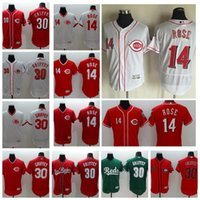 Wholesale Cincinnati Reds Rose Griffey Jr Baseball Flexbase Jerseys Men Jersey Black Flex base Green Salute To Service Fashion Stars Stripes
