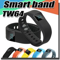 Wholesale FITBIT TW64 Bluetooth Smart Band Fit Bit Wrist Activity Sleep Wristband Smart Bracelet For IOS Android iPhone Plus S