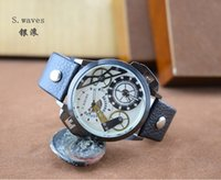 antique swiss watch - Swiss Antique Watch Sport Clock Date Day Steel Dial Genuine Leather Strap Relogio Masculino Sport DZ Watch For Watch Men