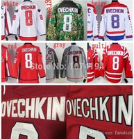 authentic alex ovechkin jersey - 2016 Washington Winter Classic Alex Ovechkin Jersey Cheap Authentic Gray White Embroidery Red Multi Stitched Hockey Jersey