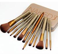 Wholesale 12Pcs Set Professional Makeup Brushes Set Foundation Eye Face Shadows Lipsticks Powder Make Up Brushes Cosmetic Tools Kit T0555