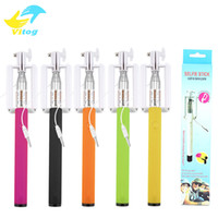 Monopied à pôle extensible Prix-2016 Universal Selfie Sticks Extendable Handheld Camera Phone Self Timer Pole Artefact Palo Selfie Selfi Monopod Trépied 5 couleurs
