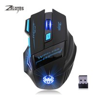Wholesale Wireless Gaming Mouse Adjustable For Pro Gamer DPI Optical Ergonomic Mouse With LED For Laptop PC Computer Gamer