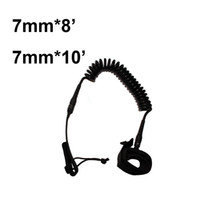 Wholesale Leg Leash - leg rope top quality 8 feet 10 feet dia 7mm leg leash rope for sup surf board stand up paddle board