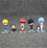 basketball action figures - 4 cm Anime Kuroko s Basketball Kuroko Tetsuya Kagami Taiga PVC Action Figure Model Toy for kids gift EMS set