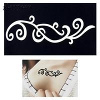 Wholesale pc Small Henna Indian Tattoo Stencil Drawing for Airbrush Painting Women Flower Lace Clavicle Waist Body Art Tattoo Sticker G52