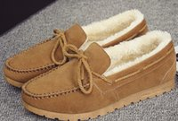 Wholesale boots Fashion flat boots women shoes add wool keep warm winter plush shoes yzs168