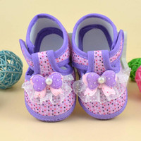 baby shoes china - Baby girl shoes summer princess first walker Bowknot Boots Soft Crib Shoes Cloth china cute casual sneakers M high quality