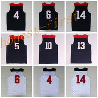 best quality player - 2014 USA Basketball Jerseys Dream Team American Shirts Uniforms With Player Name Team Logo Navy Blue Best Quality