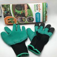 Дешевый Садоводство сад-Садовые джинсовые перчатки с 4 когтями, изготовленными из когтей Простой способ садить рытье посадками Перчатки водонепроницаемые, устойчивые к шипам XL-M281