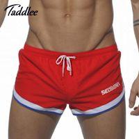 Wholesale SEOBEAN Brand Sexy Men Boxers Trunks Casual Workout Cargos Man Fitness Gasp Active Sweatpants Mens Jogger Bottoms Beach Shorts