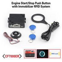 Wholesale Car RFID Immobilizer With Push Start Button And Transponder Security Alarm System Engine Start Stop