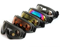 Wholesale Black Frame Snow Goggles Windproof Motorcycle Snowmobile Ski Goggles Eyewear Sports Protective Safety Glasses with strap