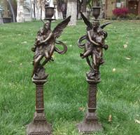art deco candlesticks - Art Deco Sculpture Naked Men And Women Candlestick Bronze Statue