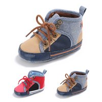 Wholesale newborn baby kids shoes Non slip New Spring Autumn Toddler First Walker Baby Shoes Boy Girl Soft Sole Crib Laces Sneaker Prewalker