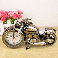 Wholesale Motorcycle alarm clock retro alarm clock creative home furnishings ornaments car models modeling student gifts
