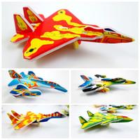 venda por atacado mini brinquedos-360pcs / lot Mini aviões de caça avião Modelo de papel 3D quebra-cabeças brinquedos para crianças Dom inteligência brinquedos