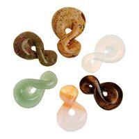 Acheter Lien pour perles-Une Direction Infinity Nœud Charms Lien de connecteur pendentif en Mix Perles naturelles Agate Stone Green Aventurine Photo Jasper Meilleur cadeau pour elle
