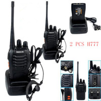 Wholesale 2pcs Retevis H Walkie Talkies Transmitter Receiver UHF MHz W CH Single Band Portable Way Radio SMA F Free earpiece freight