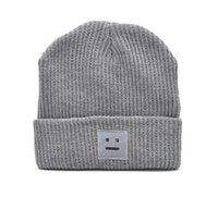 Wholesale Autumn and winter square smile knit cloth knitted cap wool cap thickening keep warm lovers hat couple cap
