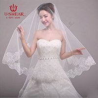 accessory com - Layer m White Ivory Lace Bride Voile mariage Bridal Veil Wedding Accessories Velos De Novia Veu De Noiva Com Renda